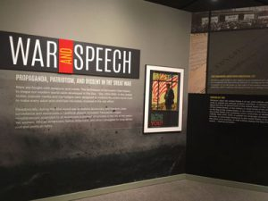 Image of the War and Speech exhibit