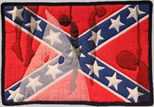Photo of Southern Heritage, Southern Shame quilt made by Gwendolyn Magee in 2001.