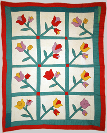 Photo of the W.P.A. tulip quilt
