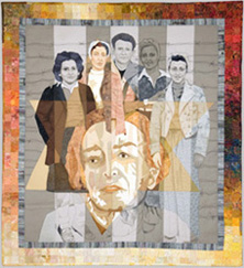 Photo of Survivors 2003 quilt made by Aniko Feher in 2010.
