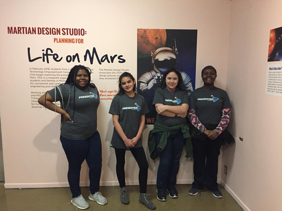 Four young women from ITEC's 2020 Girls Program