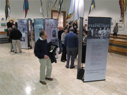 Photo of Michigan Folksong Legacy banners on display