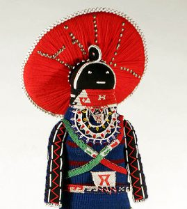 Photo of a Siyazama doll made by Lobolile Ximba in 2003.