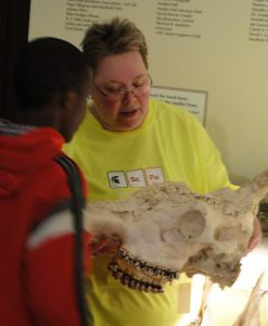 Image of Student with Skull
