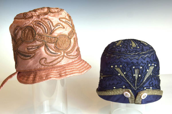 Image of hats of Up Cloche exhibit