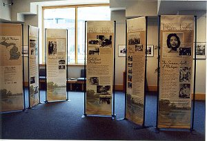 Photo of the Idlewild Exhibition on Display