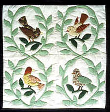 Image of Laurel Wreath quilt block made by Carol Hartsell in 1987