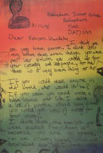 Image of Letter to Nelson Mandela from the exhibit