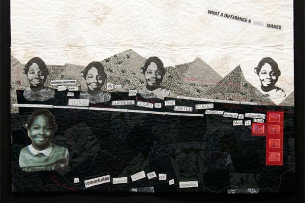 "Image of quilt, Title: "" Ruby Bridges: What A Difference A School Makes"""