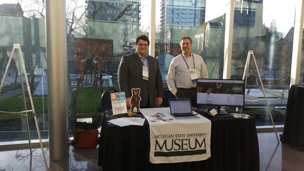 Erik Rujan and Max Evjen at the Museums and the Web conference