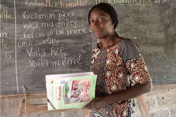 Elisabeth Adigbli, 25, primary school teacher, Abomey © Darcy Greene
