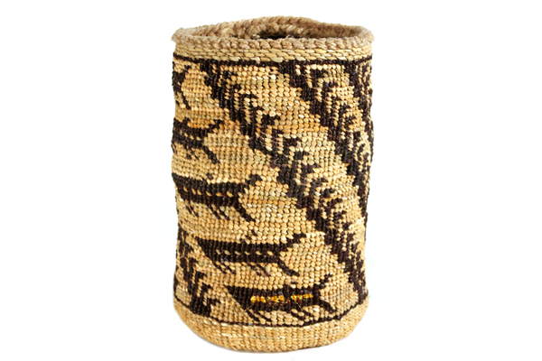 Photo of basket woven by Pat Courtney Gold