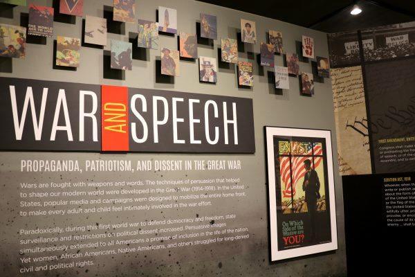 War and Speech exhibit