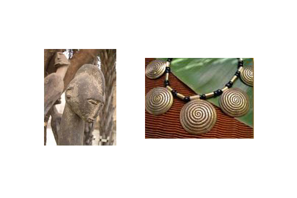 Mali jewelry and sculpture