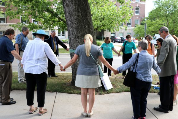 Teal ribbon removal ceremony