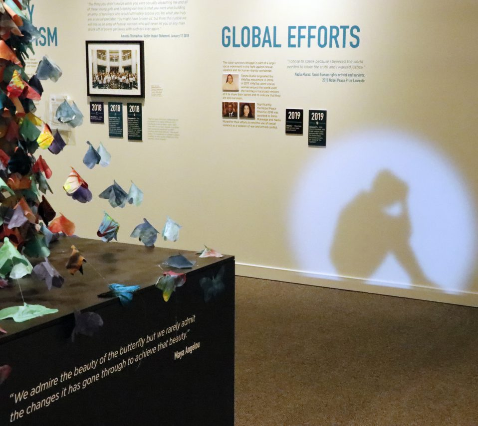 """Image from the exhibit """"Finding Our Voice: Sister Survivors Speak"""""""