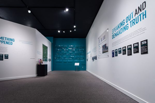 "Exhibit at the MSU Museum ""Finding Our Voice: Sister Survivors Speak"""