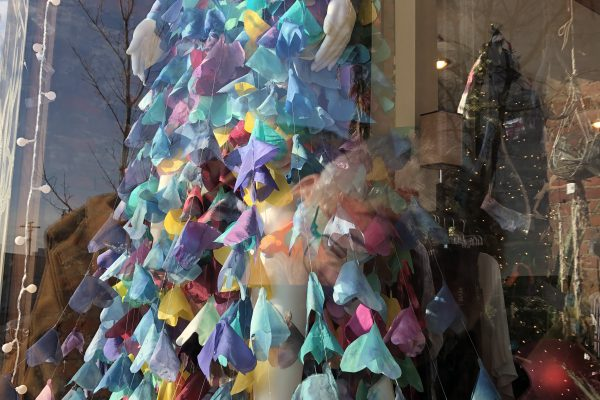 Silk-based Butterfly Dress created by Alexandra Bourque