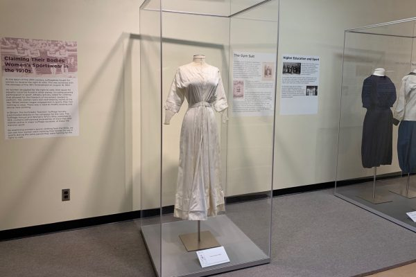 "photographs from the exhibit, ""Claiming Their Bodies: Women's Sportswear in the 1910s"""