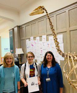 elephant bird jury right to left: Pam Rasmussen, Jackie Kraft, Laura Abraczinskas