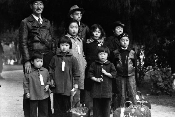 Photo of Japanese American family forced to leave their home