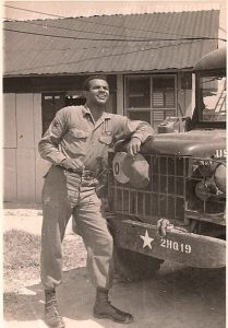 Romeo Howe (3rd great grandson of William and Sarah Brooks), during his Vietnam War service. Courtesy of his daughter, Aimee Hendle.