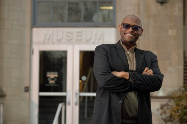 Julian Chambliss outside the MSU Museum