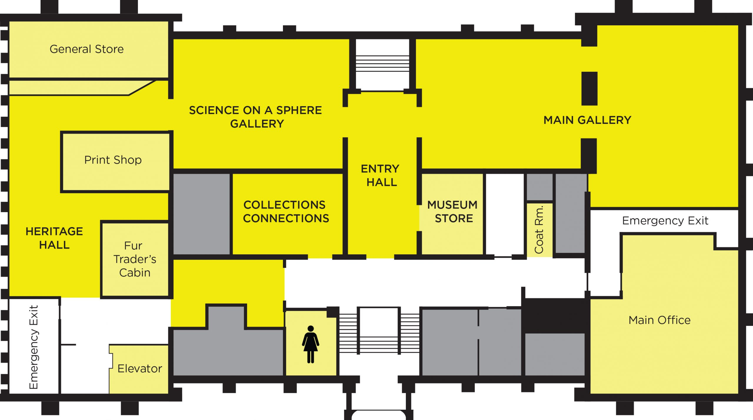MSU Museum first floor plan