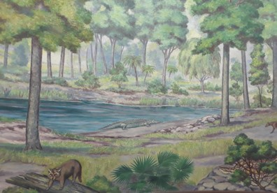 Painting of Loxophus near water