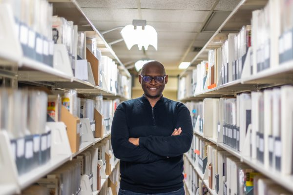 Dr. Julian Chambliss in MSU Libraries Special Collections