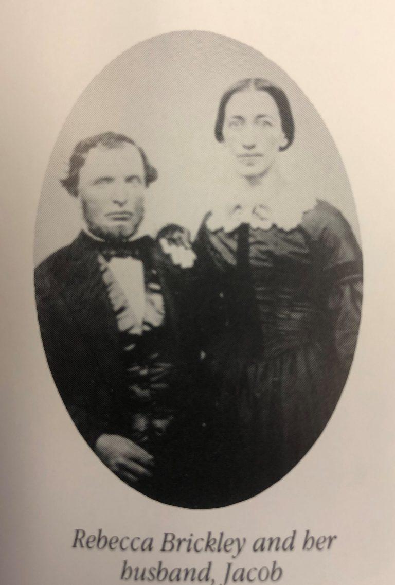 Black and white photo of Rebecca Brinkley and her husband Jacob