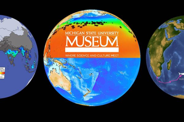 Science on a Sphere with the MSU Museum graphic